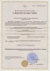 свидетельство о регистрации 2008